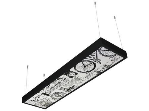 gazete desenli 30x120 sıva üstü LED panel