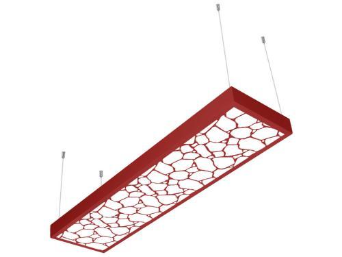 kırmızı taş desenli 30x120 sıva üstü LED panel
