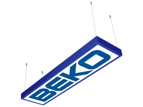 logo baskılı 30x120 sıva üstü LED panel